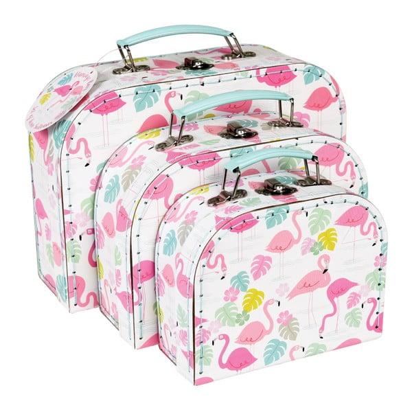 Flamingo Bay 3 db-os gyerekbőrönd szett - Rex London
