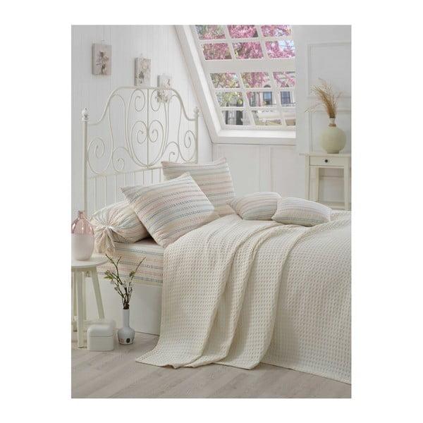 Serro Malo kétszemélyes pamut ágytakaró, lepedő és 2 párnahuzat szett, 200 x 230 cm