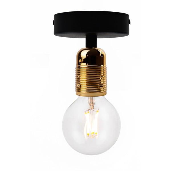 Uno Basic fekete mennyezeti lámpa arany foglalattal - Bulb Attack