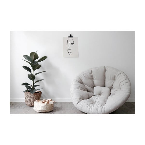 Nido sötétkék kinyitható fotel - Karup Design