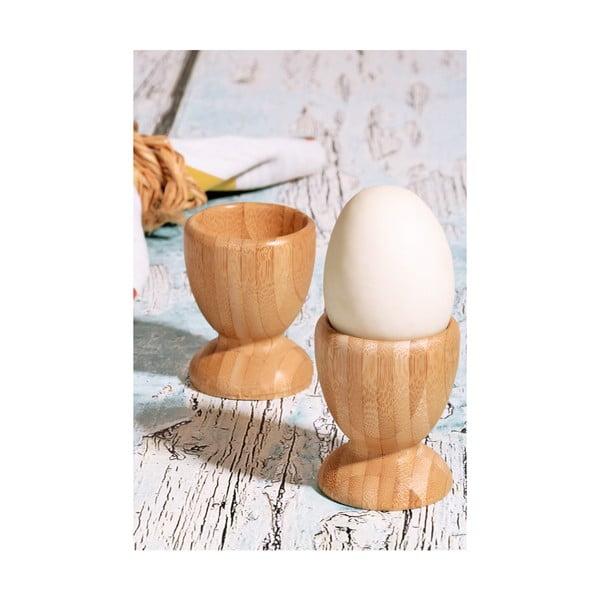 2 darabos tojástartó szett bambuszból, ⌀ 6 cm