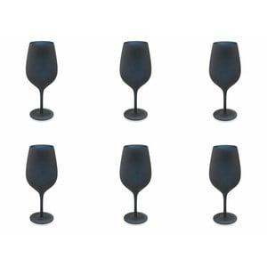 Naima fekete üveg talpas pohár, 6 db - Villa d´Este