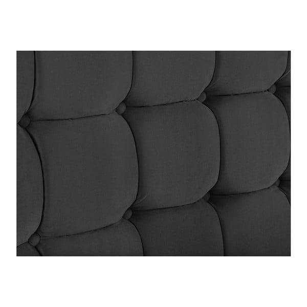 Hasso sötétszürke ágytámla, 120 x 200 cm - Kooko Home