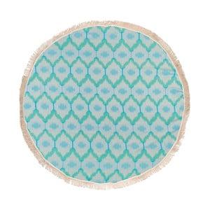 Ripple türkiz hammam fürdőlepedő pamutból és bambuszrostból, ⌀ 150 cm - Begonville