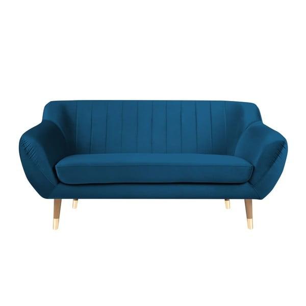 Benito kék kétszemélyes kanapé - Mazzini Sofas
