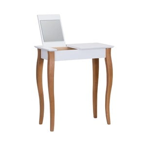 Dressing Table fehér fésülködő asztal tükörrel, hossza 65 cm - Ragaba