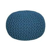 Knitted kék kötött puff - LABEL51