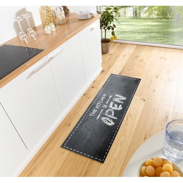 Open Kitchen szürke konyhai futószőnyeg, 50 x 150 cm - Hanse Home