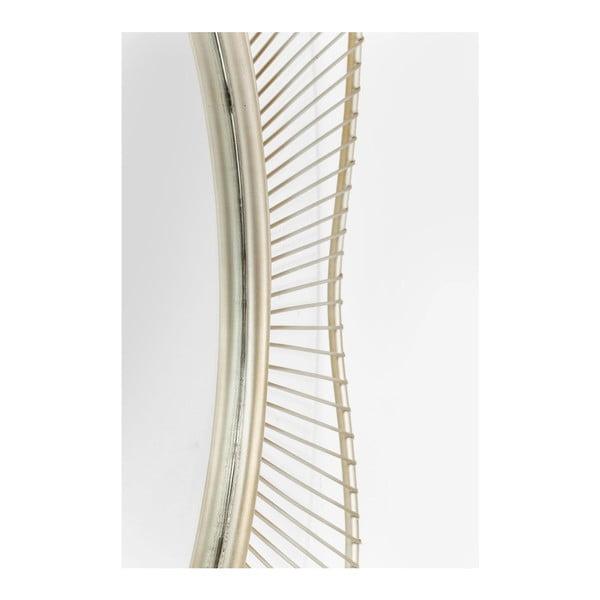 Storm Silver falióra ezüstszínű kerettel, ⌀ 93 cm - Kare Design
