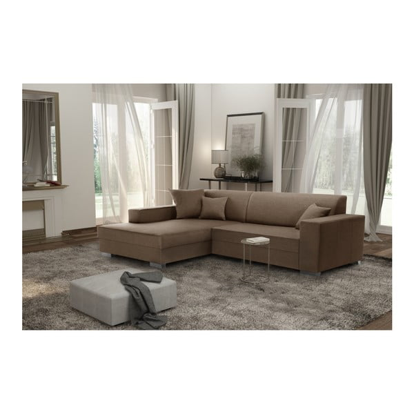 Perle világosbarna kanapé, bal oldalas - Interieur De Famille Paris