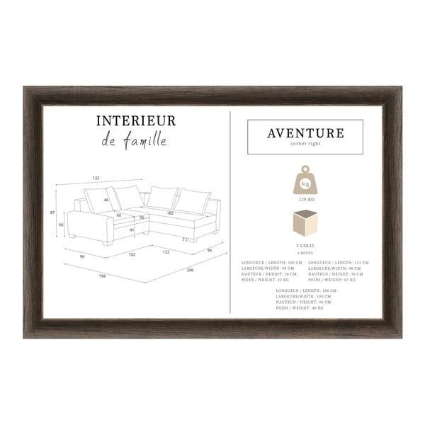Aventure szilvalila kanapé, jobb oldalas - Interieur De Famille Paris
