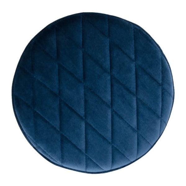 Ejby kék bársony puff - House Nordic