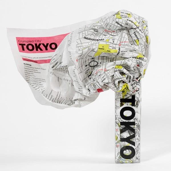 Tokyo gyűrhető turista térkép - Palomar