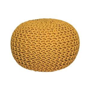 Knitted sárga kötött puff - LABEL51