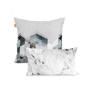 Rocks 2 részes pamut párnahuzat szett, 50 x 80 cm - Blanc