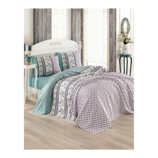Pique Puro szürke pamut ágytakaró kétszemélyes ágyra, 200 x 230 cm
