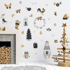 Scandinavian Animals karácsonyi matrica - Ambiance