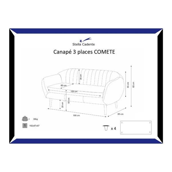 Comete lila háromszemélyes kanapé - Scandi by Stella Cadente Maison