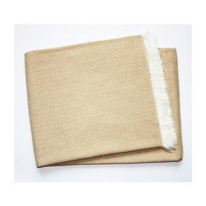 Béžový pléd s podílem bavlny Euromant Skyline, 140x180cm