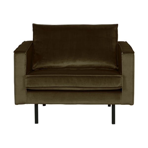 Rodeo sötétzöld bársony hatású fotel - BePureHome