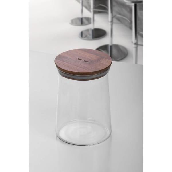 Olla üvegtál bambusz fedéllel, ⌀ 16 cm - Bambum