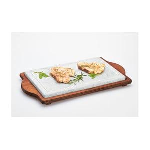 Stone Plate tálaló kőlappal, 30 x 52 cm - Bisetti