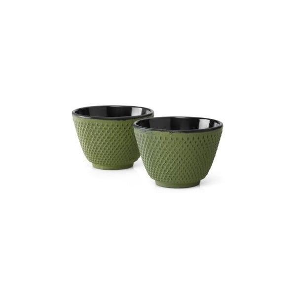 Xilin 2 db zöld öntöttvas teásbögre, ⌀ 7,8 cm - Bredemeijer