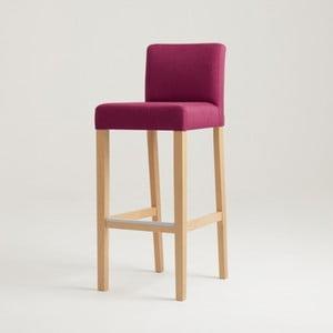 Wilton fuksziaszínű bárszék natúr lábakkal - Custom Form