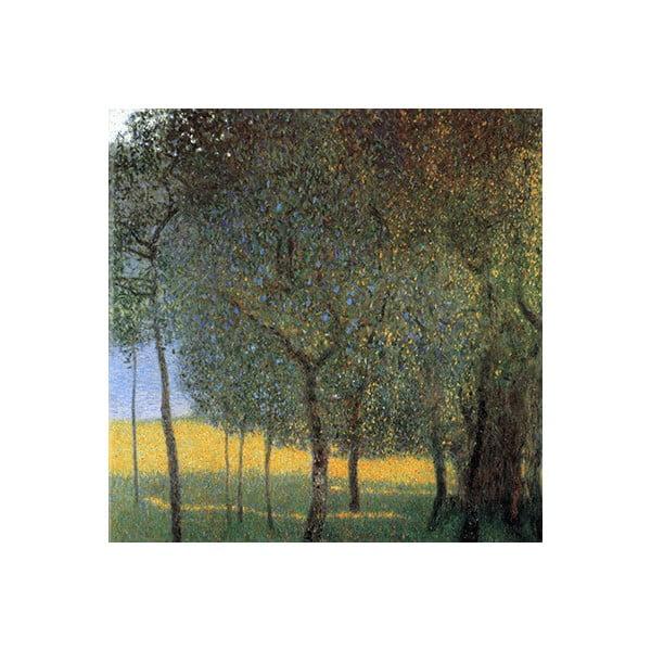 Gustav Klimt - Fruit Trees kép másolat, 45 x 45 cm