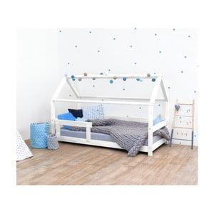 Bílá dětská postel s bočnicí ze smrkového dřeva Benlemi Tery, 120 x 190 cm
