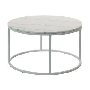 Accent márvány tárolóasztal szürke vázzal, Ø 85 cm - RGE