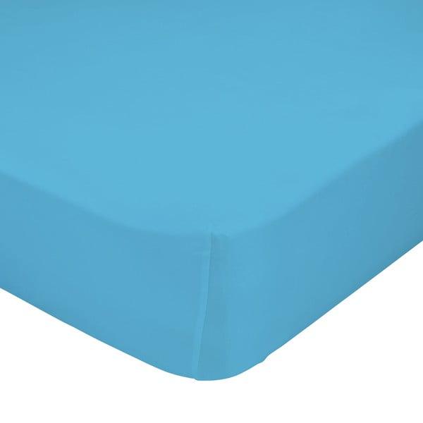 Türkiz elasztikus lepedő 100% pamutból, 90 x 200 cm - Baleno