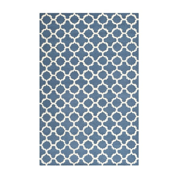 Bessa kék gyapjúszőnyeg, 243x152 cm - Safavieh