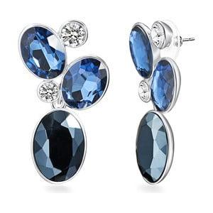 Blau Deep fülbevaló Swarovski Elements kristályokkal - Saint Francis Crystals