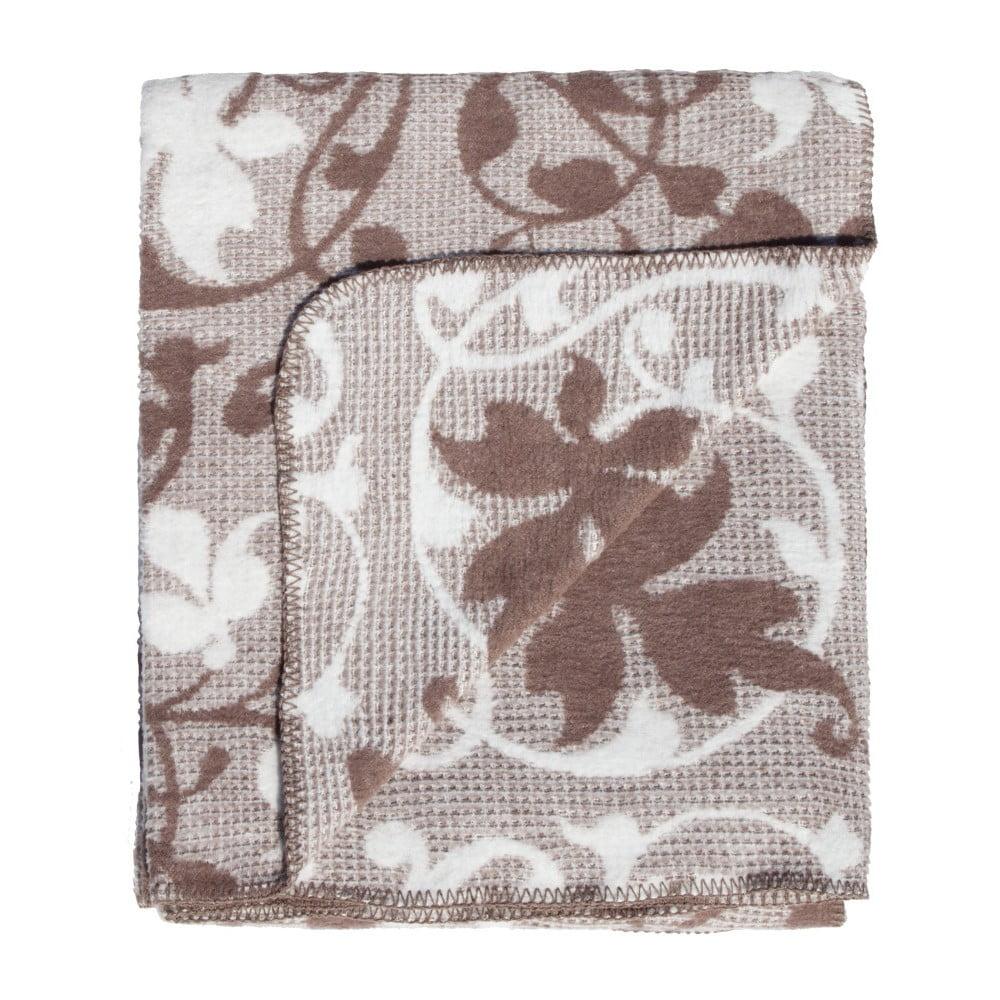 ... Leaves barna-fehér pamutkeverék takaró b286ba4c8c