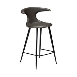 Tmavě šedá barová židle z eko kůže DAN–FORM Denmark Flair