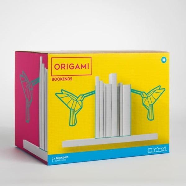 Origami acél könyvtámasz - Just Mustard