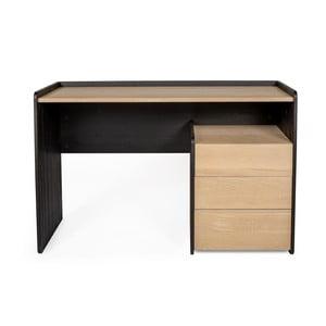 Tramonto fenyőfa és tölgyfa íróasztal 3 fiókkal - Askala