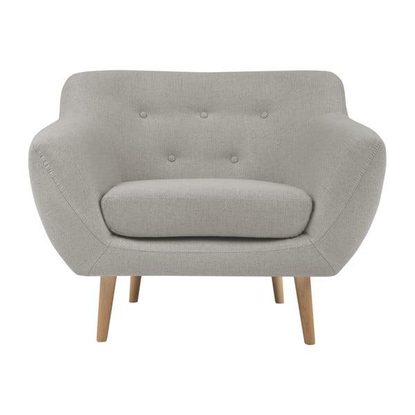 Sicile krém színű fotel világos lábakkal - Mazzini Sofas