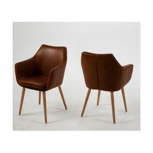 Nora barna fotel - Actona
