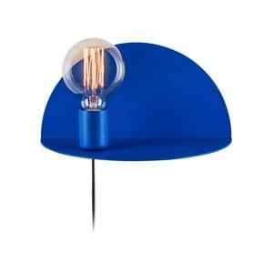 Shelfie Anna kék falilámpa polccal, magasság 15 cm