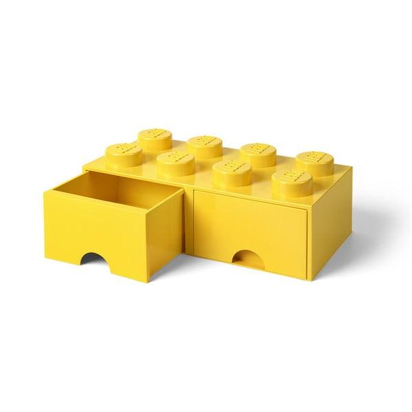 Sárga 2 fiókos tárolódoboz - LEGO®