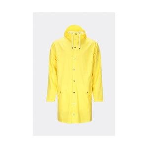 Žlutá unisex bunda s vysokou voděodolností Rains Long Jacket, velikost XS/S