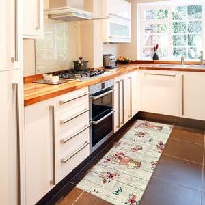 French Garden rendkívül ellenálló konyhai szőnyeg, 60 x 140 cm - Webtappeti