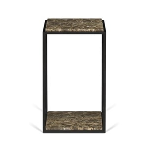 Odkládací stolek s deskou z hnědého mramoru TemaHome Forrest