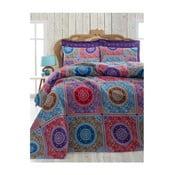Ornament Purple könnyű kétszemélyes ágytakaró, 200 x 235 cm
