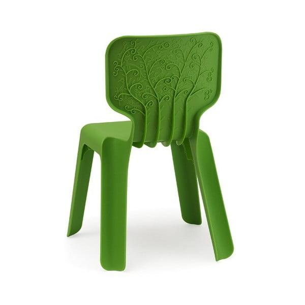 Alma zöld rakásolható gyerekszék - Magis
