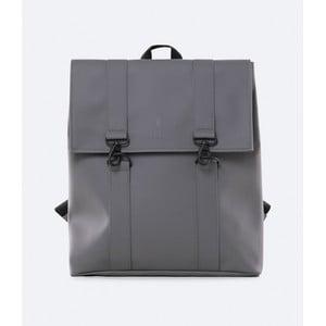 Tmavě šedý batoh s vysokou voděodolností Rains MSN Backpack