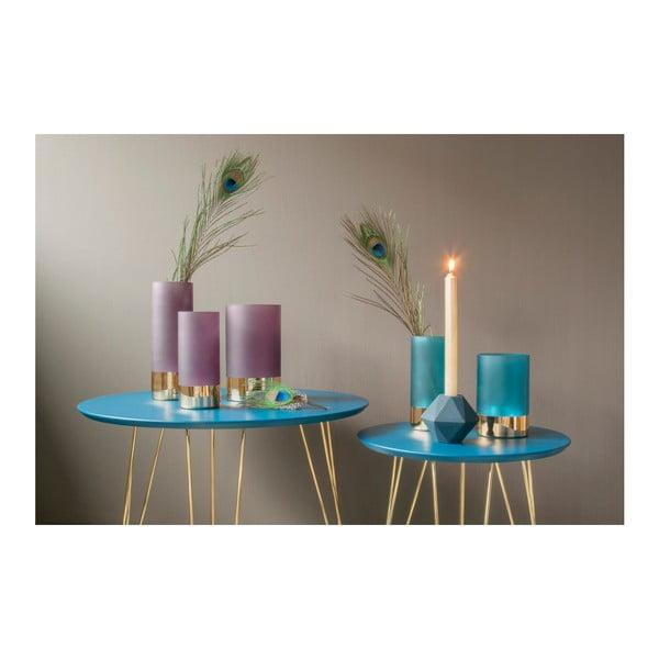 Glamour lila-aranyszínű váza, magasság 25 cm - PT LIVING