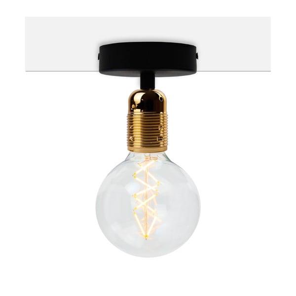 Uno Basic fekete mennyezeti lámpa, arany foglalattal - Bulb Attack